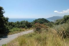 Liging van de heuvel in Zuid-Italië.
