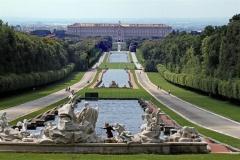 enorme tuinen Koninklijk paleis van Caserta La Regina
