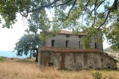 Achterzijde van de villa.