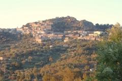 Roccagloriosa in de namiddagzon