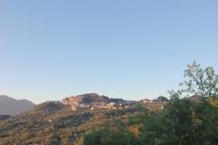zonsondergang nabij Roccagloriosa