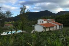 De ligging van de villa.
