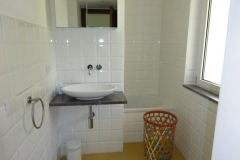 Dependance: moderne badkammer.
